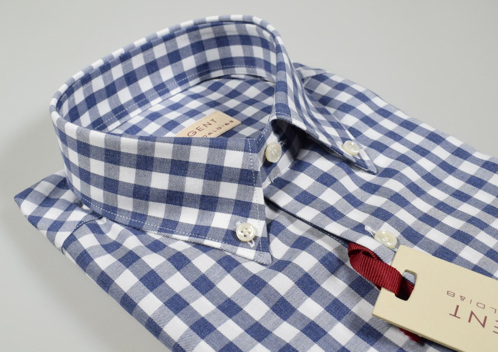 7d399c21b6 Dettagli su Camicia in flanella rasata Pancaldi collo Button Down con  taschino Regular Fit
